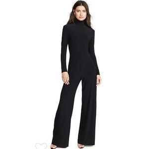 Norma Kamali Black LongSleeve Turtleneck Jumpsuit
